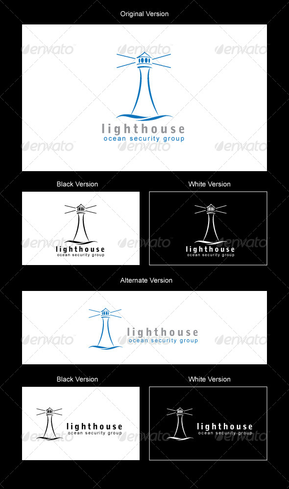 Lighthouse Logo Design - Symbols Logo Templates