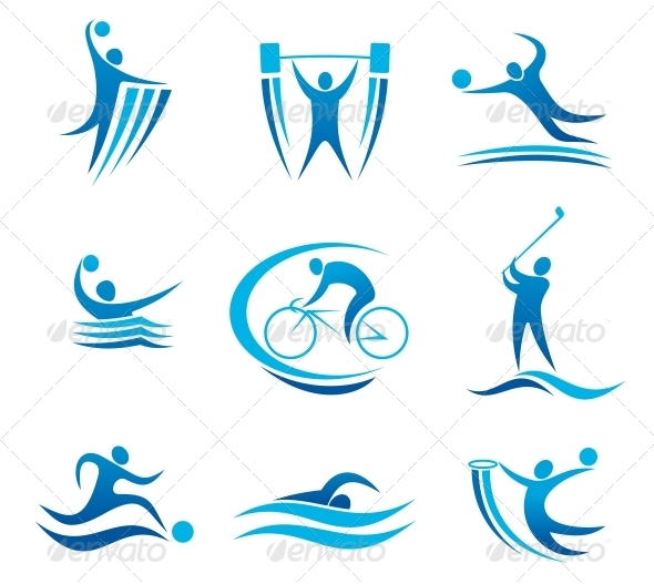 Sport Symbols And Pictograms By Vectortradition Graphicriver