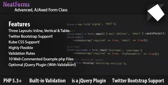 Form Class - AJAX, Validation, jQuery & Bootstrap nulled free download