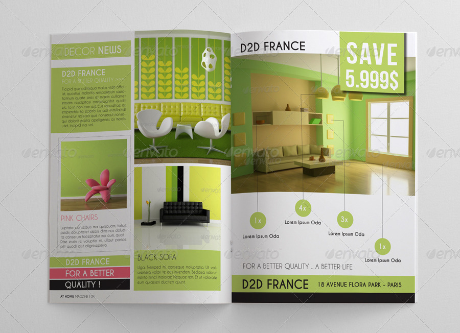 Interior design magazine template by idesignstudionet for Interior design magazine