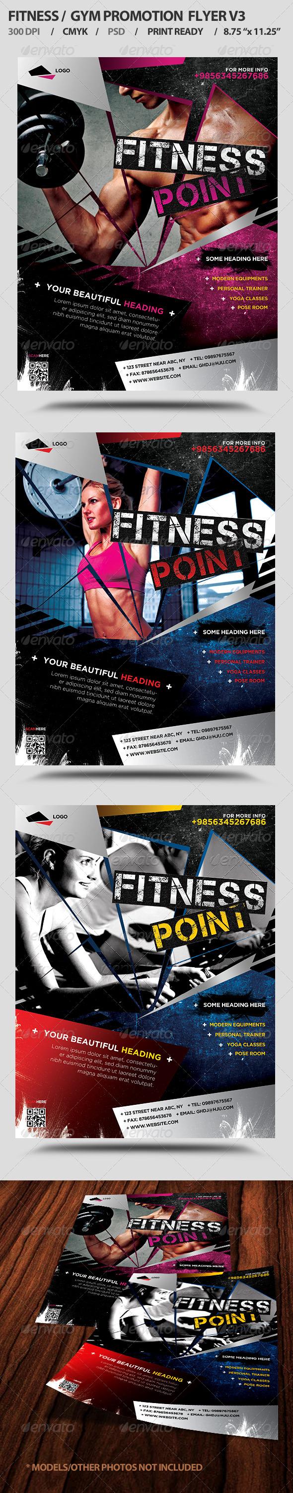 Fitness/Gym Business Promotion Flyer V3 - Sports Events