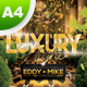 A4 Luxury Night Party Club Poster - GraphicRiver Item for Sale