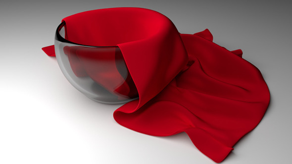 Glass Bowl with cloth - 3DOcean Item for Sale