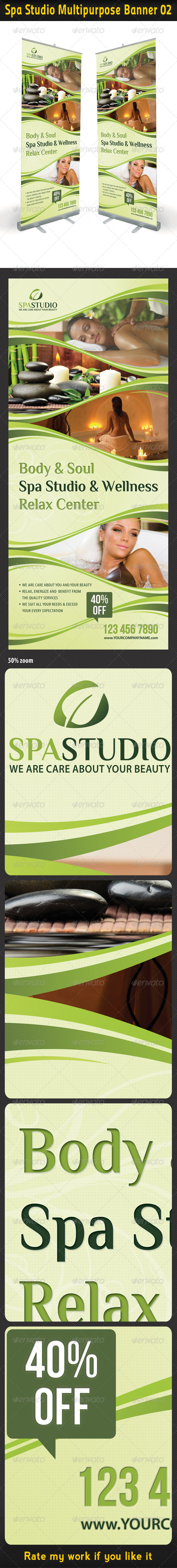 Spa Studio Multipurpose Banner 02 - Signage Print Templates