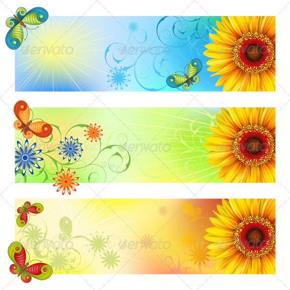 Summer banners - Flowers & Plants Nature
