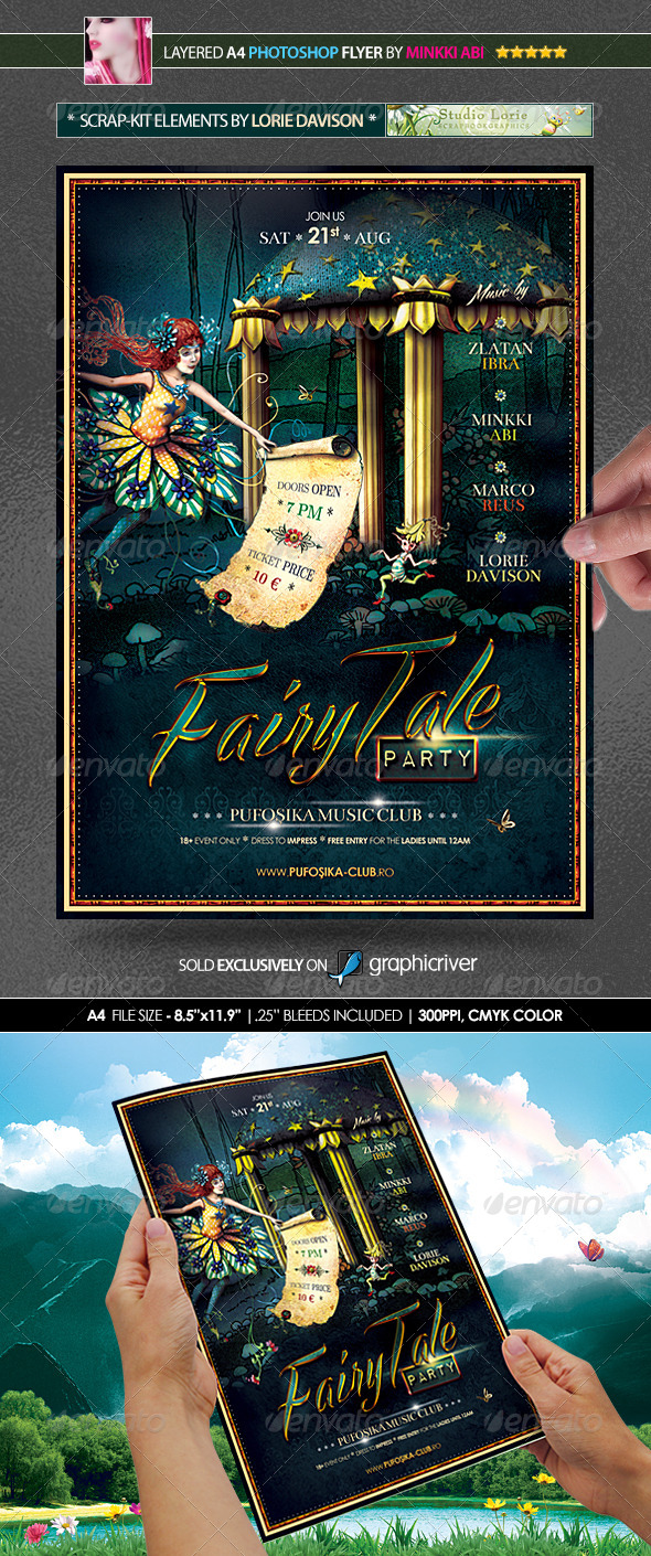 Fairytale Halloween Poster/Flyer by Minkki | GraphicRiver