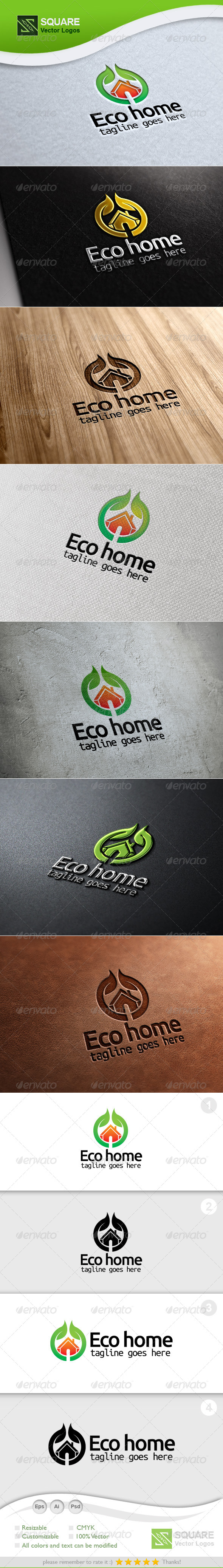 Eco, Home Vector Logo Template - Nature Logo Templates