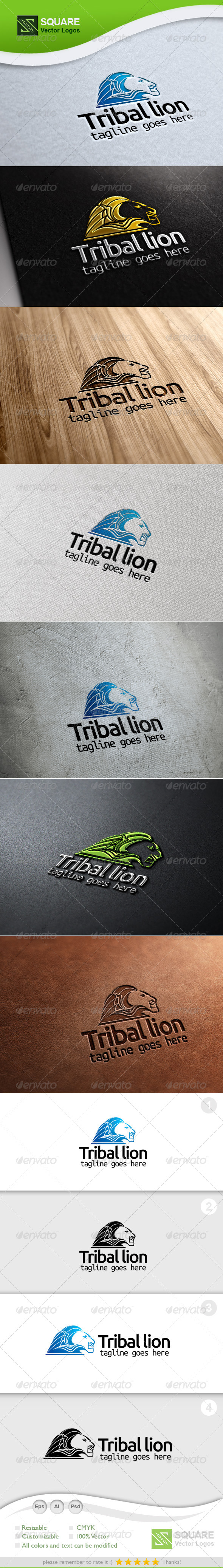 Tribal, Lion Vector Logo Template - Animals Logo Templates