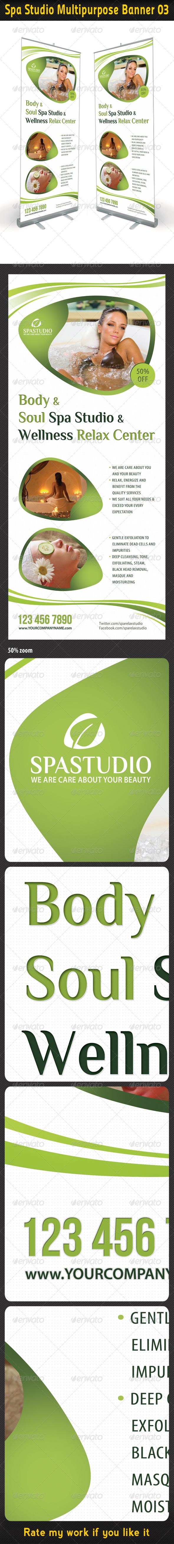 Spa Studio Multipurpose Banner 03 - Signage Print Templates