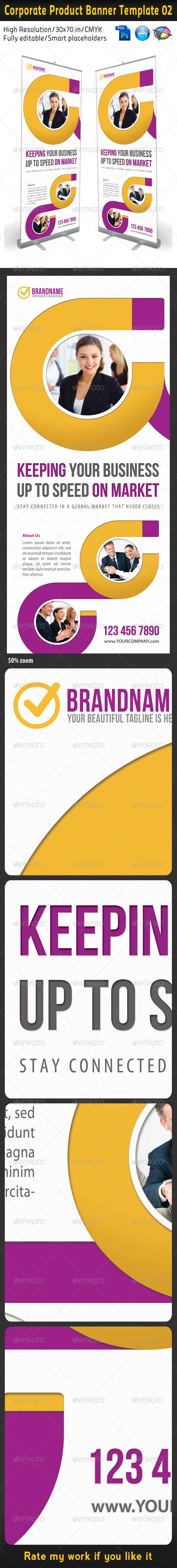 Corporate Product Banner Template 02 - Signage Print Templates