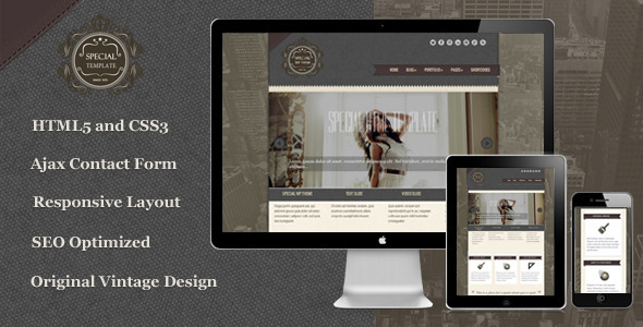 Special – Responsive Vintage HTML5 Template