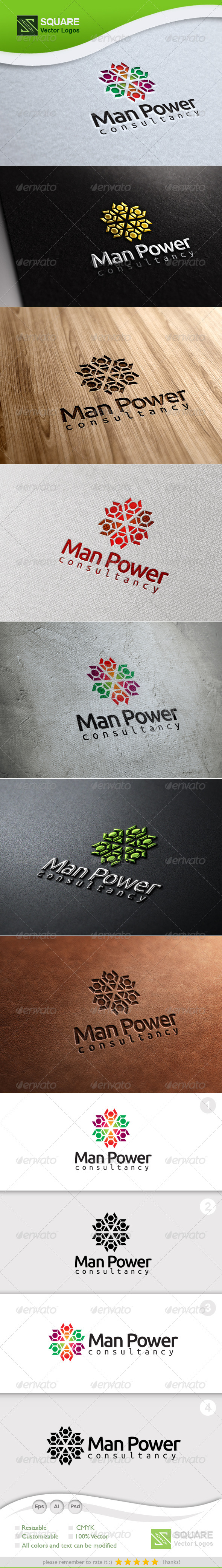 People Connect Vector Logo Template - Abstract Logo Templates