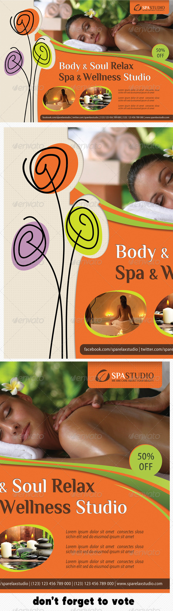 Spa Studio Flyer 08 - Corporate Flyers