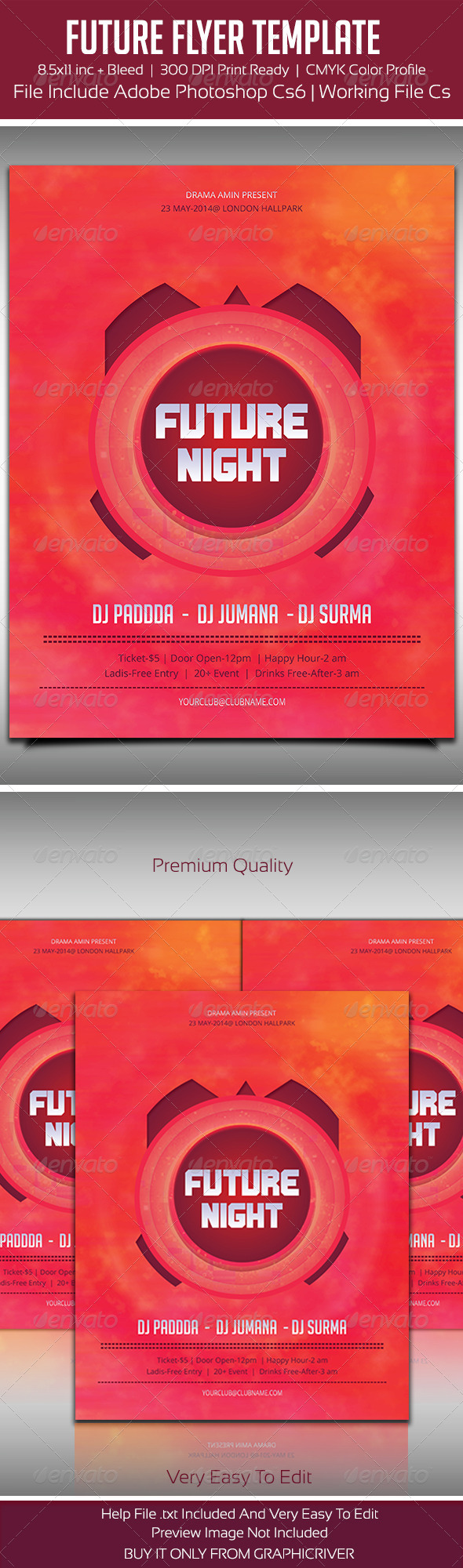 Future Flyer Template - Flyers Print Templates