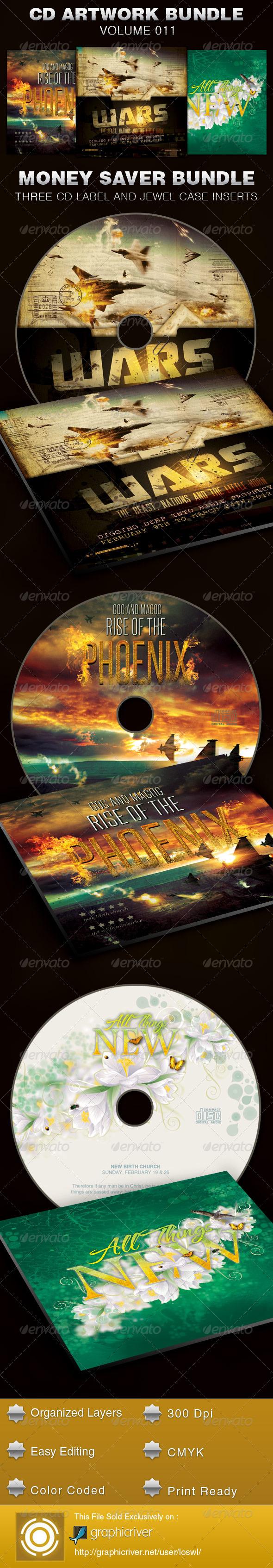 CD Cover Artwork Template Bundle-Vol 011 - CD & DVD Artwork Print Templates