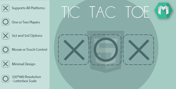 HTML5 Tic Tac Toe - CodeCanyon Item for Sale