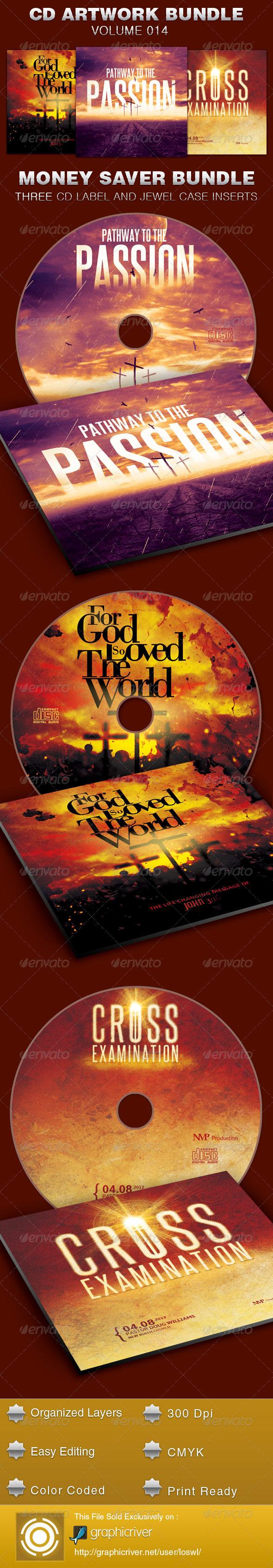 CD Cover Artwork Template Bundle-Vol 014 - CD & DVD Artwork Print Templates