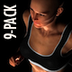Female Jogging in the Dark - Pack of 9 Loops - VideoHive Item for Sale