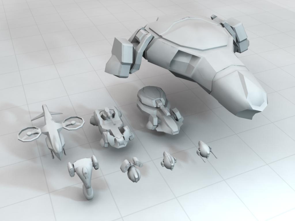 Low Poly Sci Fi Military Units Set By Joystickjunky 3docean