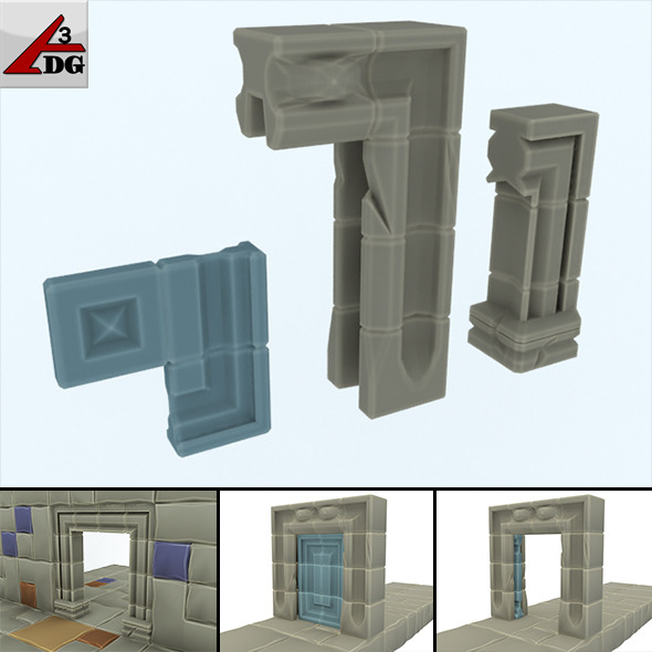 Cube Loader (2) > Door, entrance, arch. - 3DOcean Item for Sale