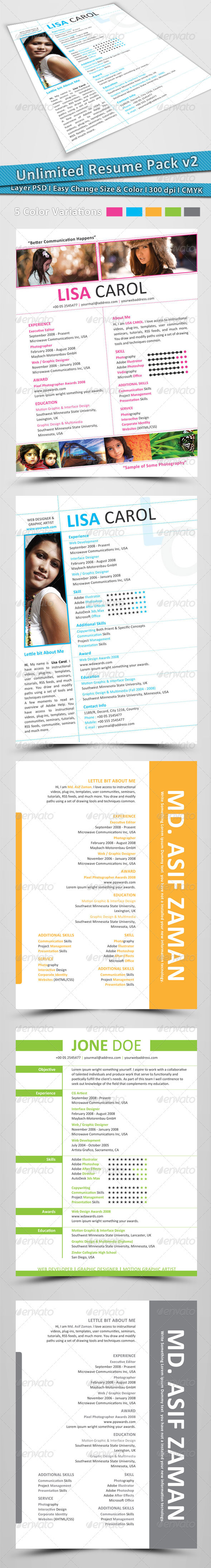 Unlimited Resume Pack v2 - Resumes Stationery