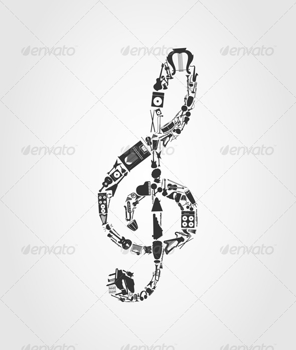 Musical key - Miscellaneous Vectors