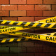 Caution Ribbons on Brick Wall - GraphicRiver Item for Sale