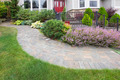 Front Yard Garden Curve Paver Path - PhotoDune Item for Sale