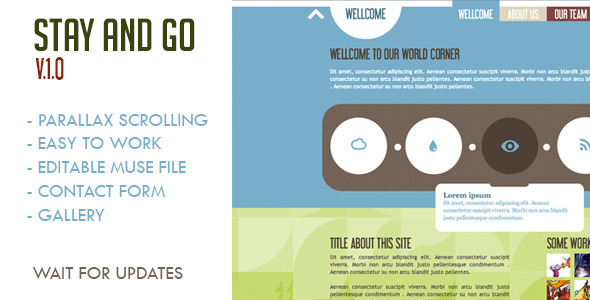 Download Stay and Go Muse Template nulled version