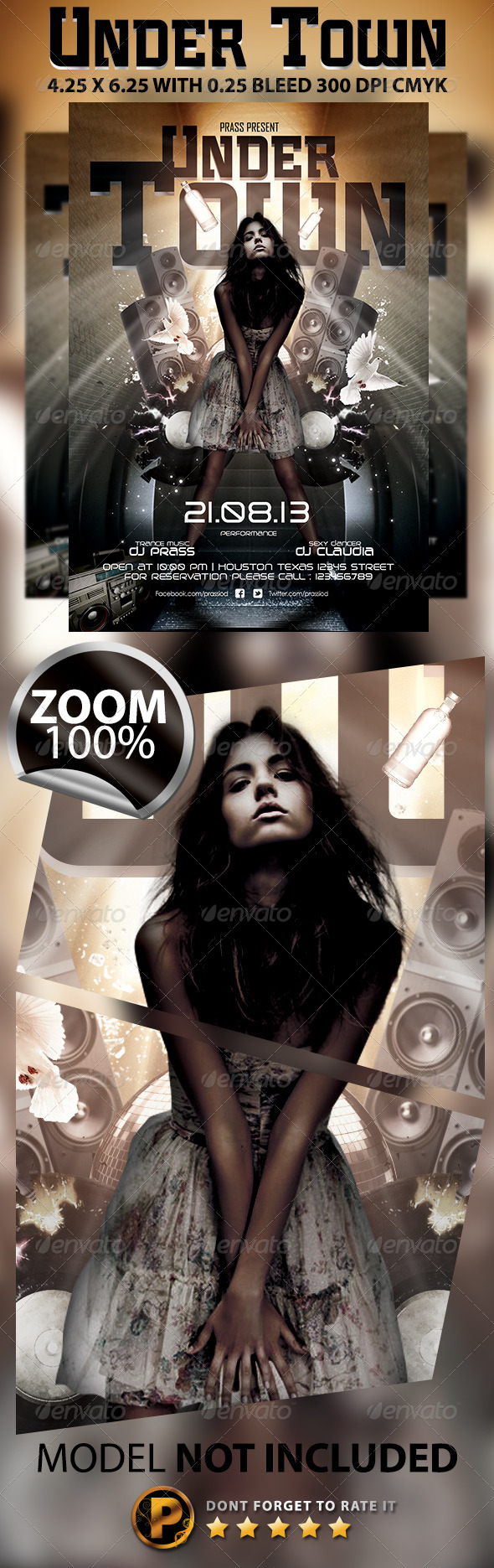 Under Town Flyer Template - Clubs & Parties Events