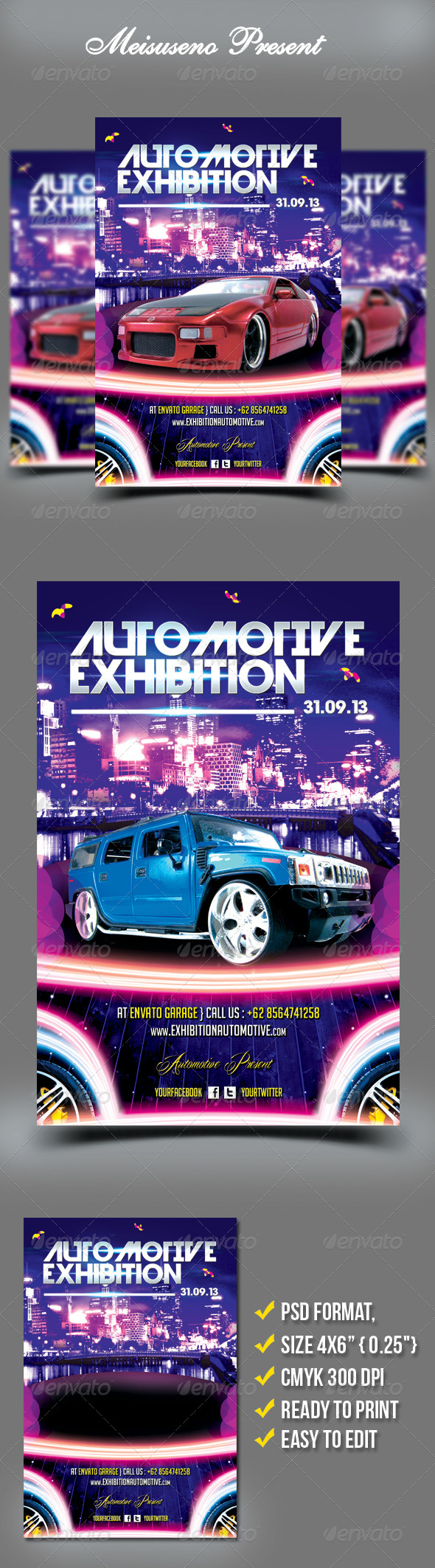 Automotive Exhibition Flyer Template - Miscellaneous Events