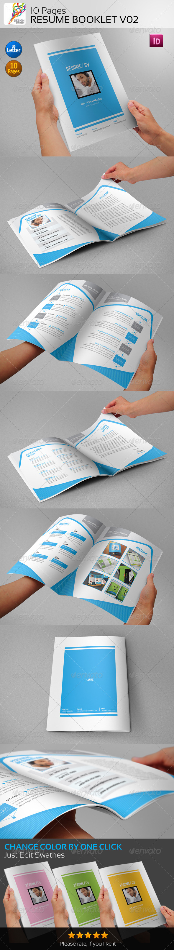 10 Pages Resume Booklet V02