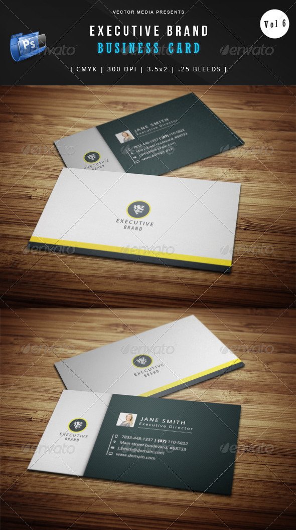 Executive Brand - Business Card [Vol.6] by VectorMedia | GraphicRiver