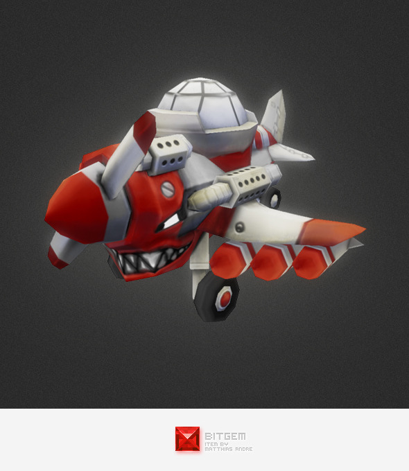 Low Poly Micro Plane - 3DOcean Item for Sale
