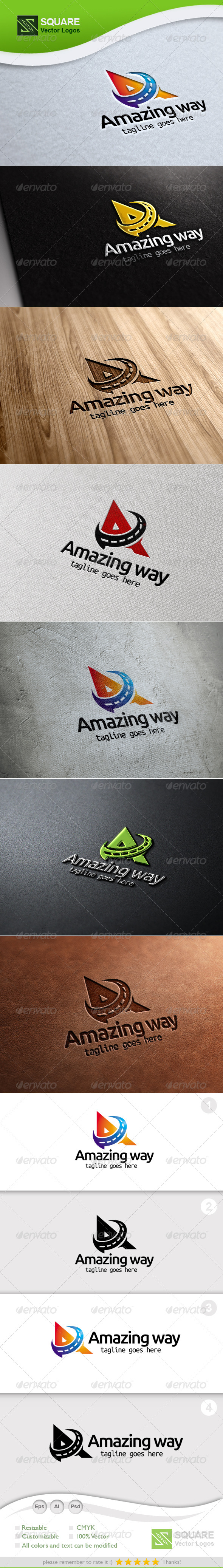 A, Way Vector Logo Template - Letters Logo Templates