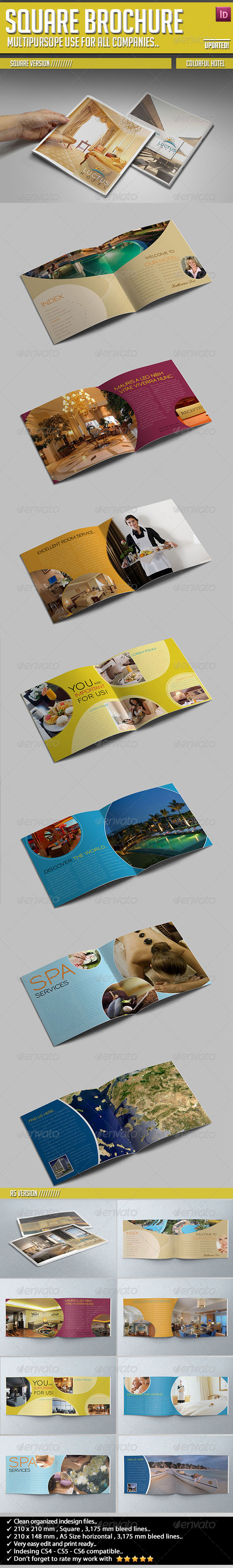 Colorful Hotel Brochure - Corporate Brochures