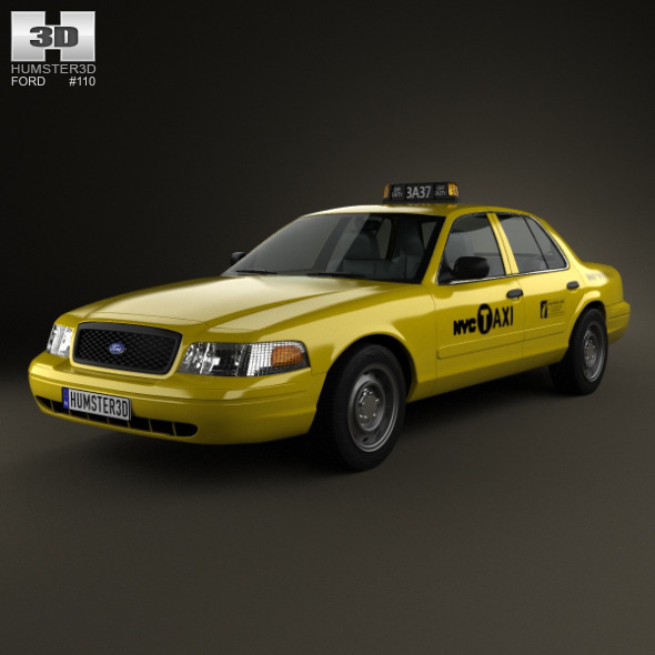 Ford Crown Victoria New York Taxi 2005 - 3DOcean Item for Sale