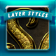 Golden Layer Styles - GraphicRiver Item for Sale