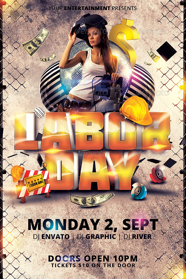 Labor Day Flyer Template By Hermz | Graphicriver