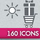 160 Basic Icons - GraphicRiver Item for Sale