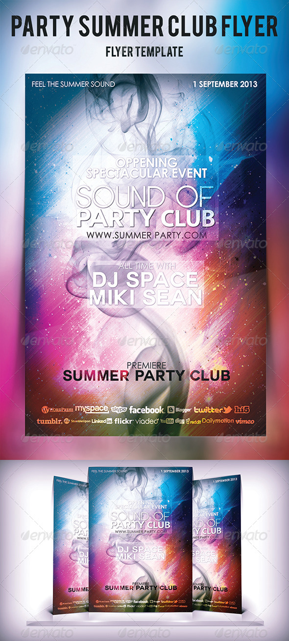 Party Summer Club Flyer - Flyers Print Templates