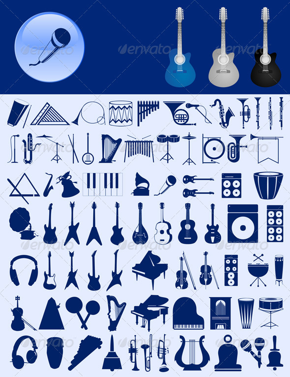 Musical icons - Miscellaneous Vectors