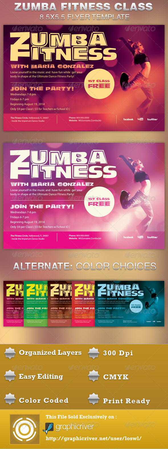 Zumba event flyer barearsbackyard zumba event flyer stopboris Image collections