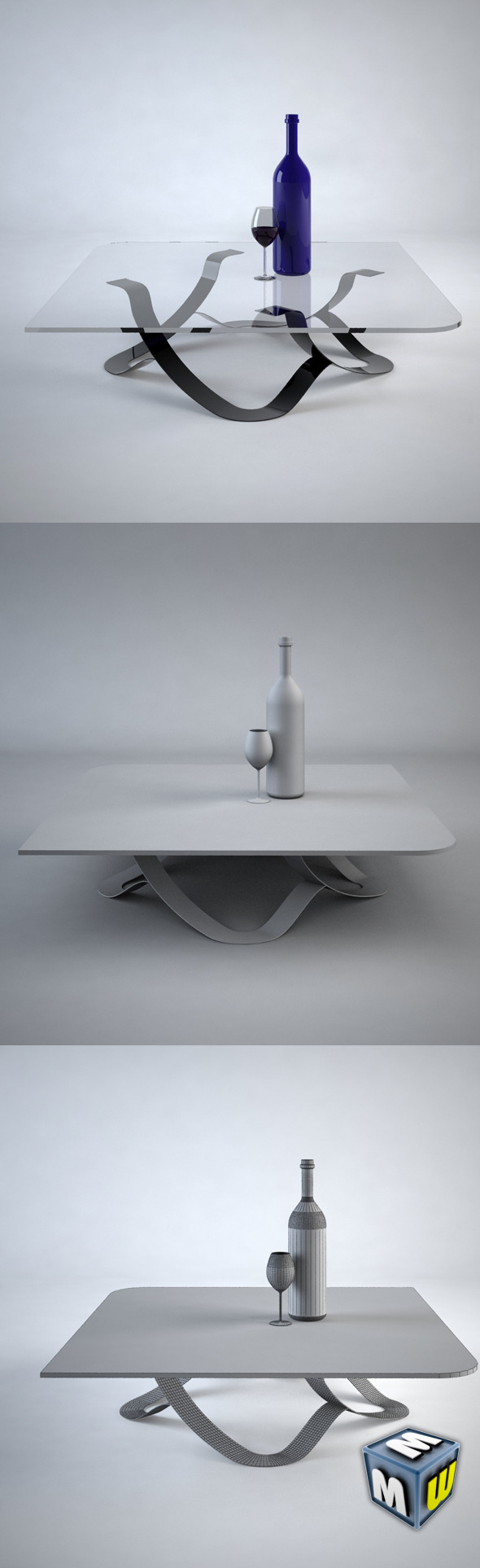 Coffe Table 1 Max 2011 - 3DOcean Item for Sale