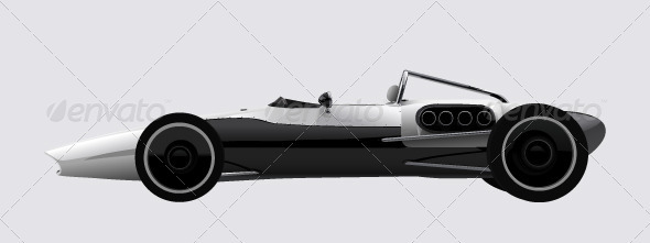 Racing sports car concept in retro style  - Sports/Activity Conceptual