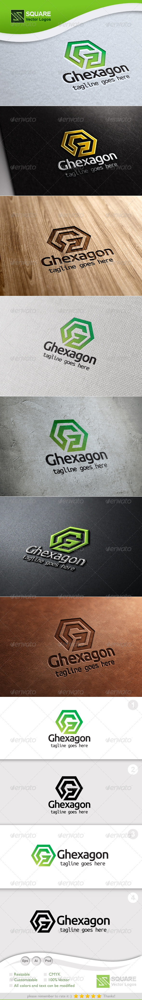 G, Hexagon Vector Logo Template - Letters Logo Templates