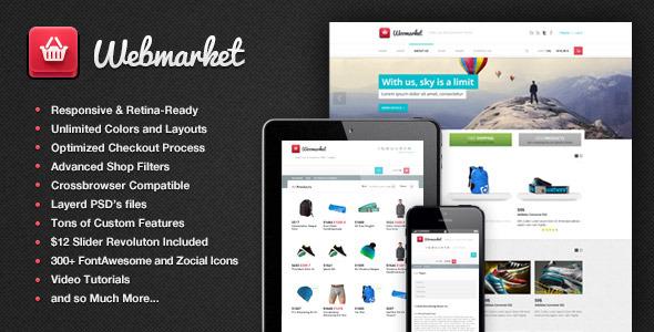 Webmarket - HTML Template for Online Shop