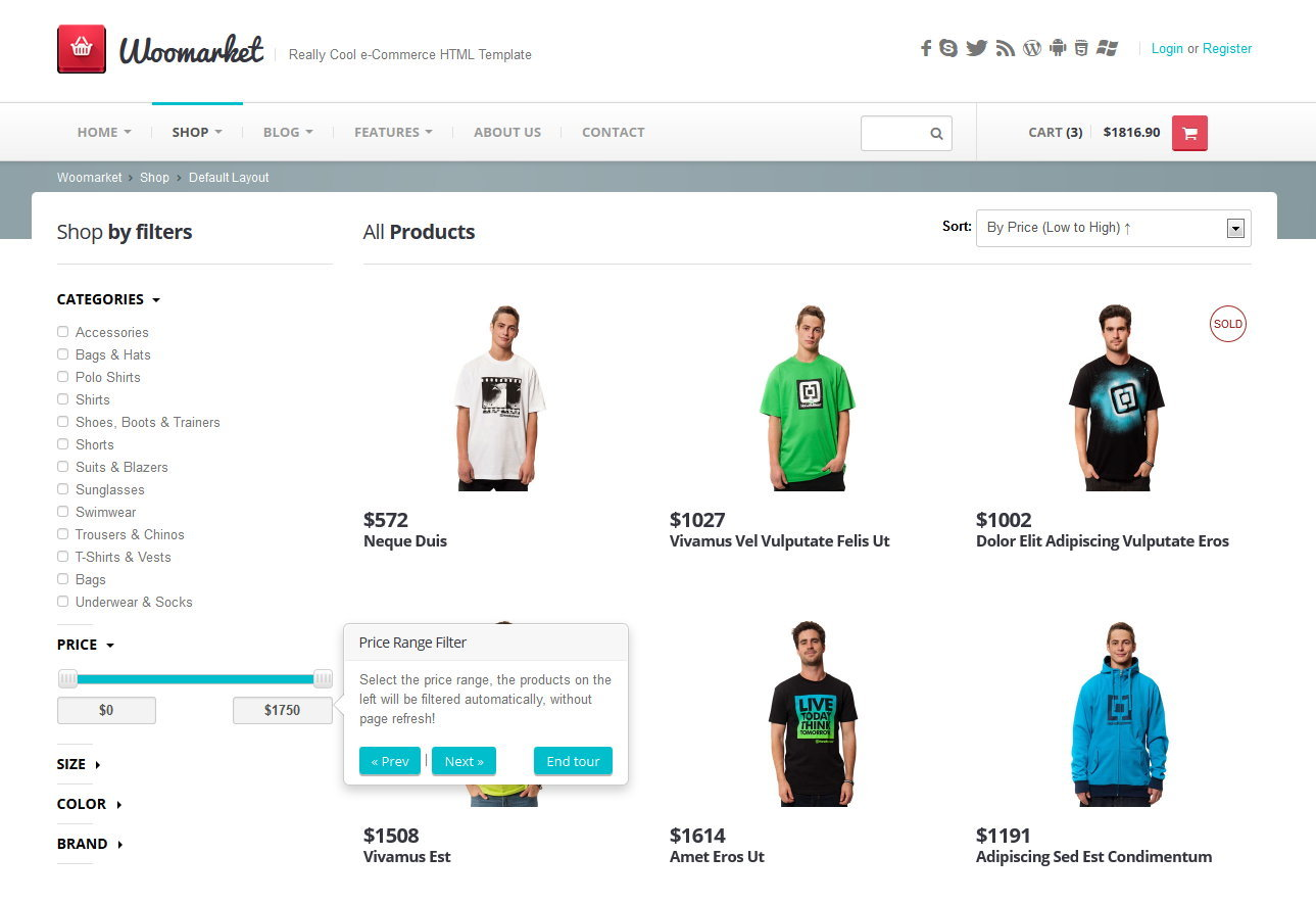 Webmarket - HTML Template for Online Shop by ProteusThemes | ThemeForest
