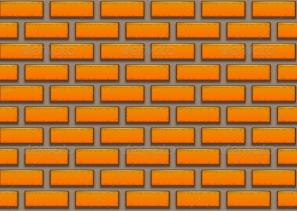 Orange Brick Background By Getlost