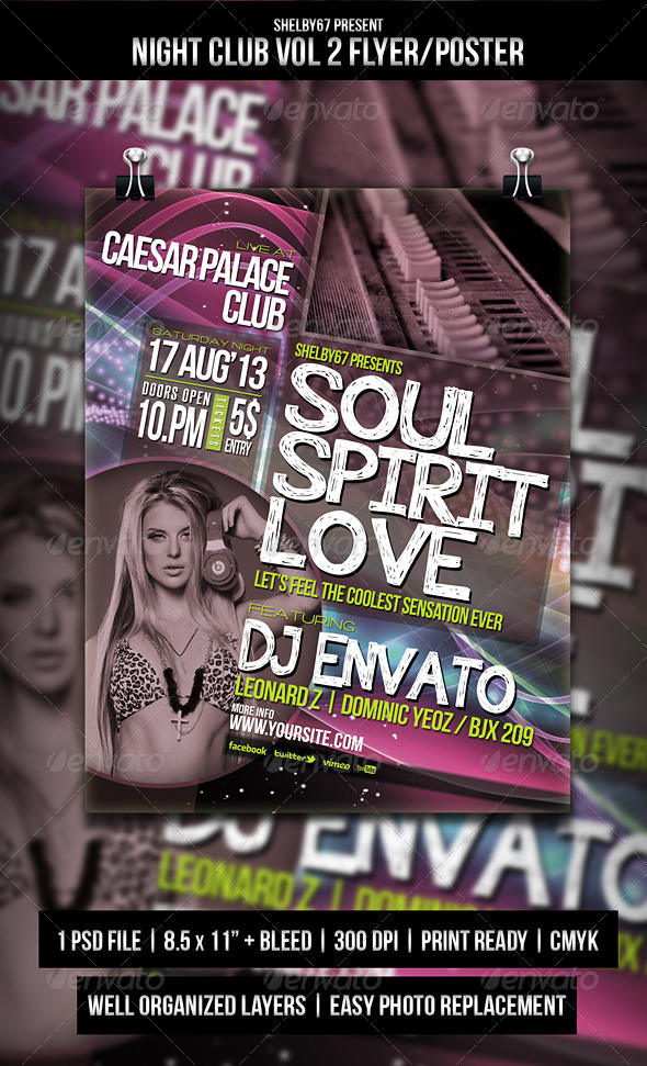 Night Club Flyer Poster Vol.2 - Events Flyers